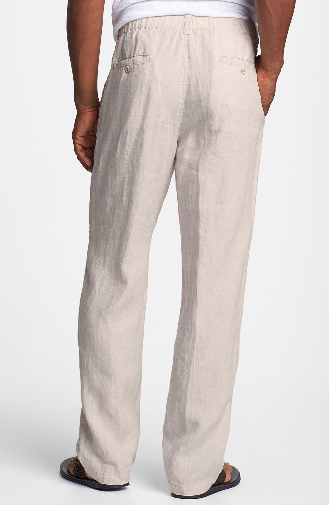 New Linen on the Beach Linen Pants,                             Alternate thumbnail 2, color,                             Natural Linen