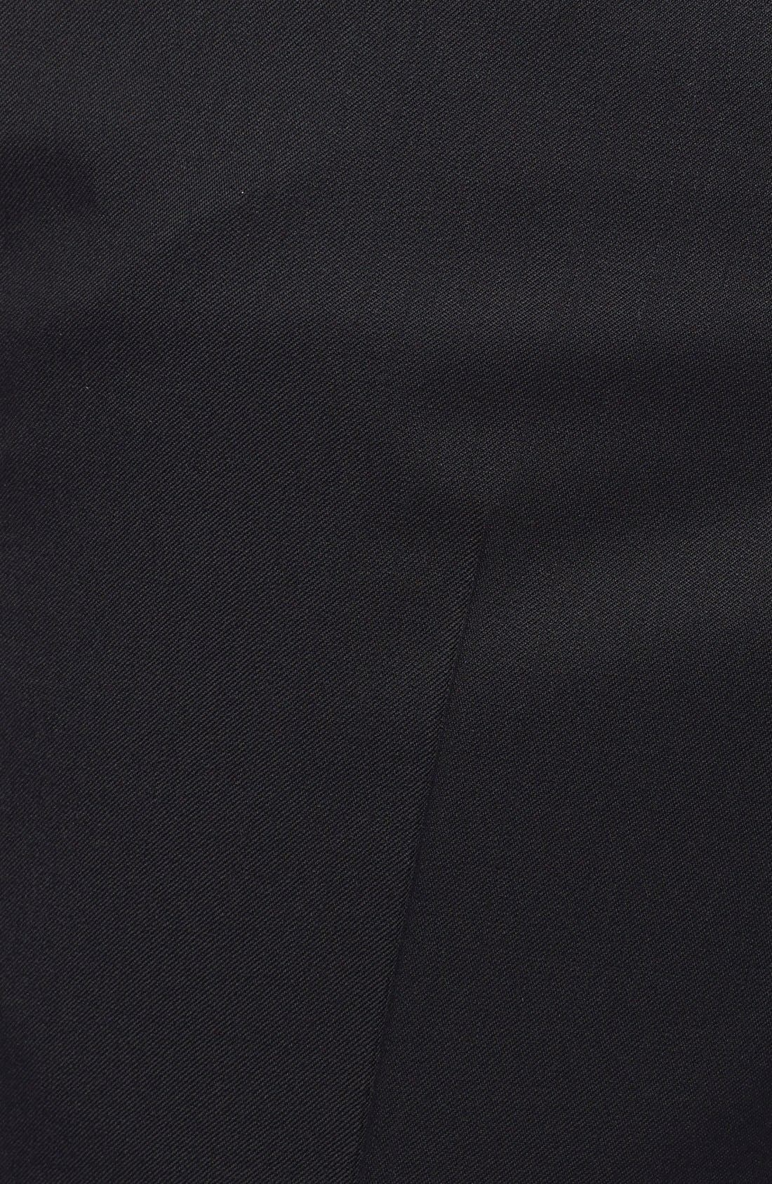 Jefferson Flat Front Wool Trousers,                             Alternate thumbnail 3, color,                             New Black