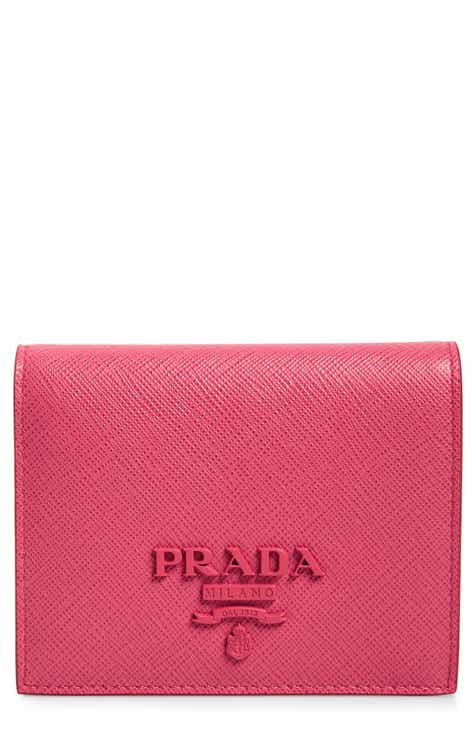60166db6 Prada Monochromatic Logo Saffiano Leather Wallet