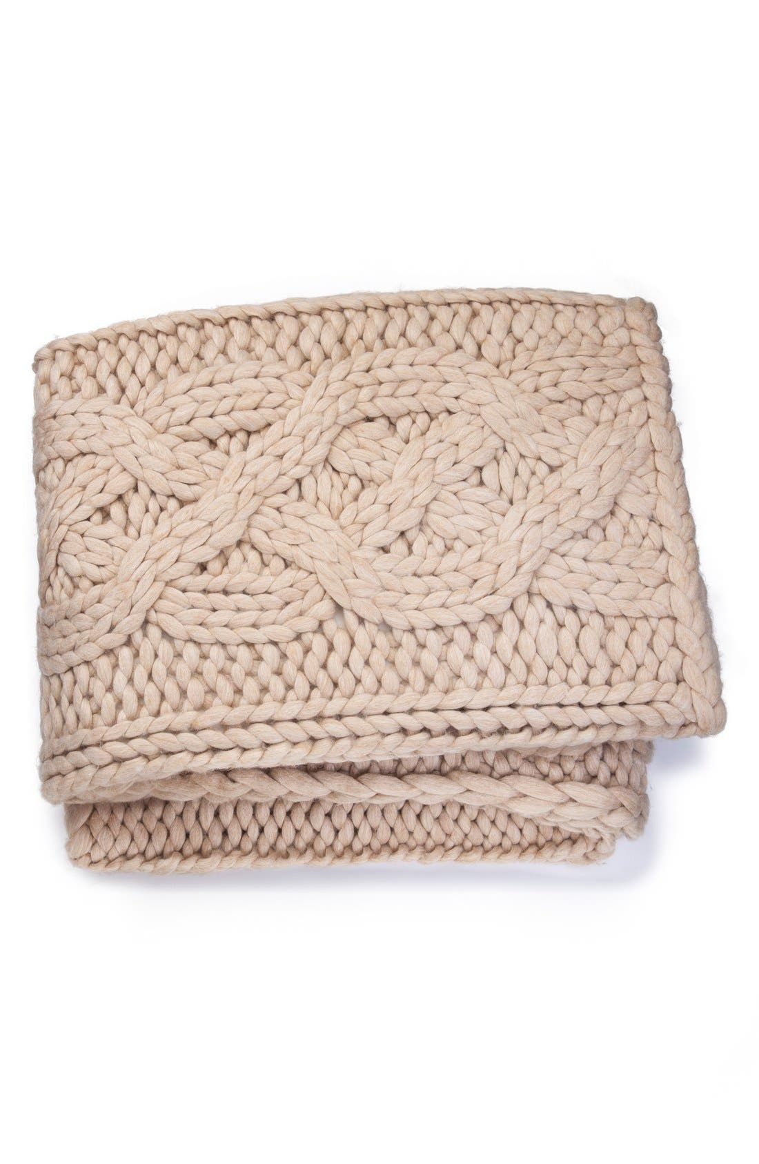 Alternate Image 1 Selected - UGG® Oversize Knit Throw