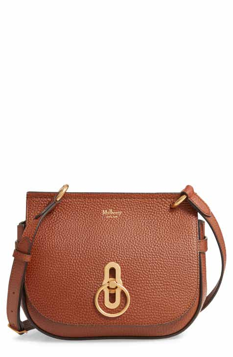 26be8884630 Mulberry Small Amberley Leather Crossbody Saddle Bag