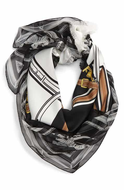 77b3339fd1 Burberry Square Scarves for Women: Silk, Cashmere, Cotton & More ...