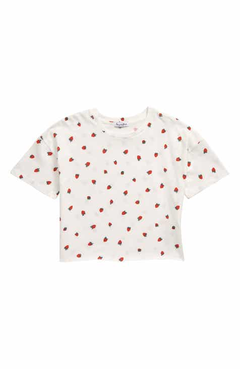 5ae1749c Love, Fire Strawberry Print Tee (Big Girls)