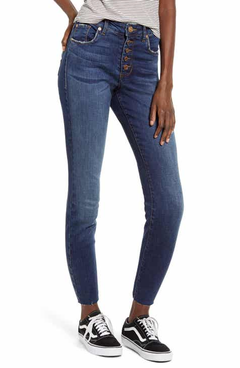 STS Blue Ellie Button Fly High Waist Crop Skinny Jeans (North Comwell)
