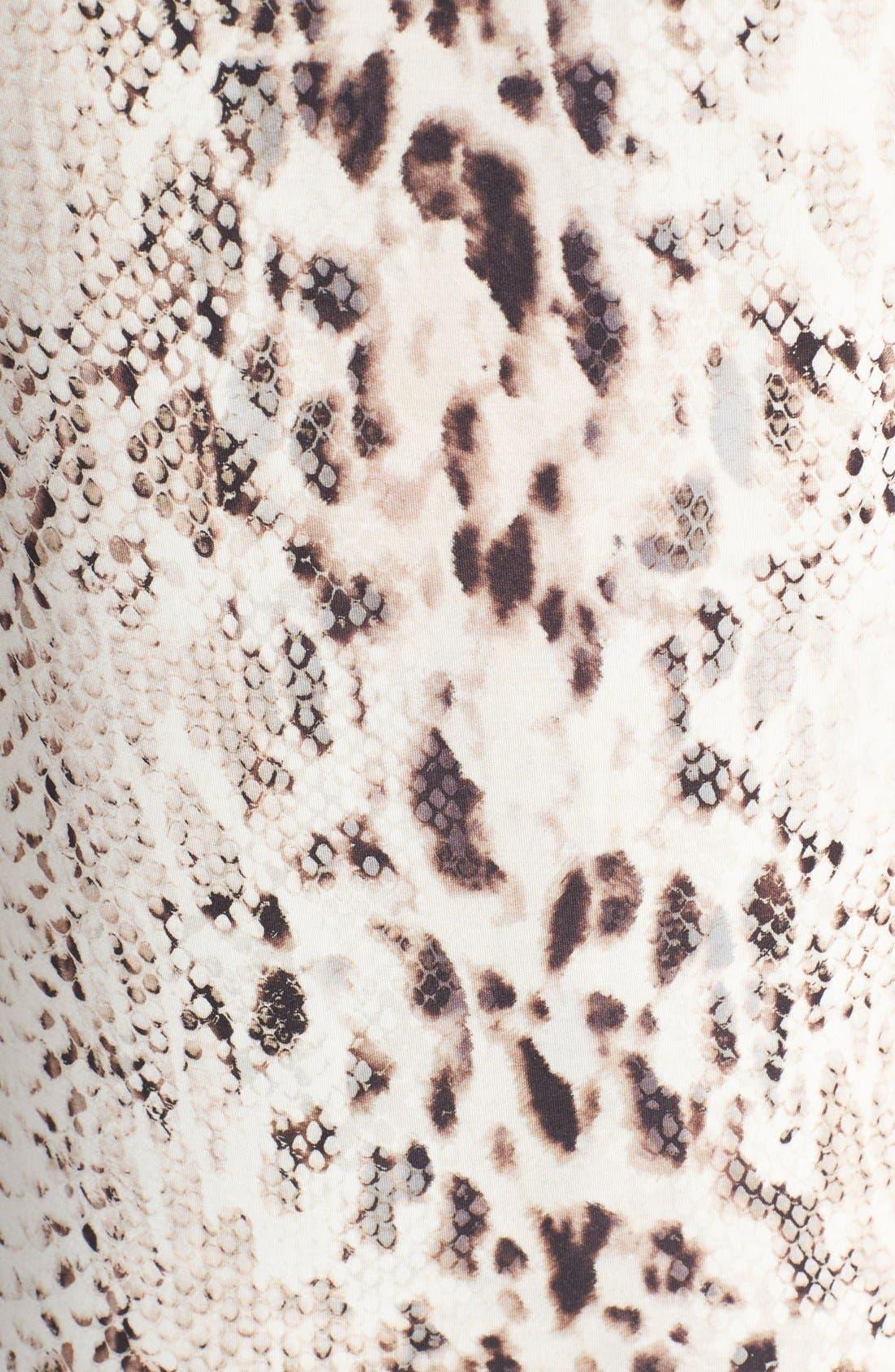 Alternate Image 3  - Haute Hippie Snake Print Long V-Neck Muscle Dress