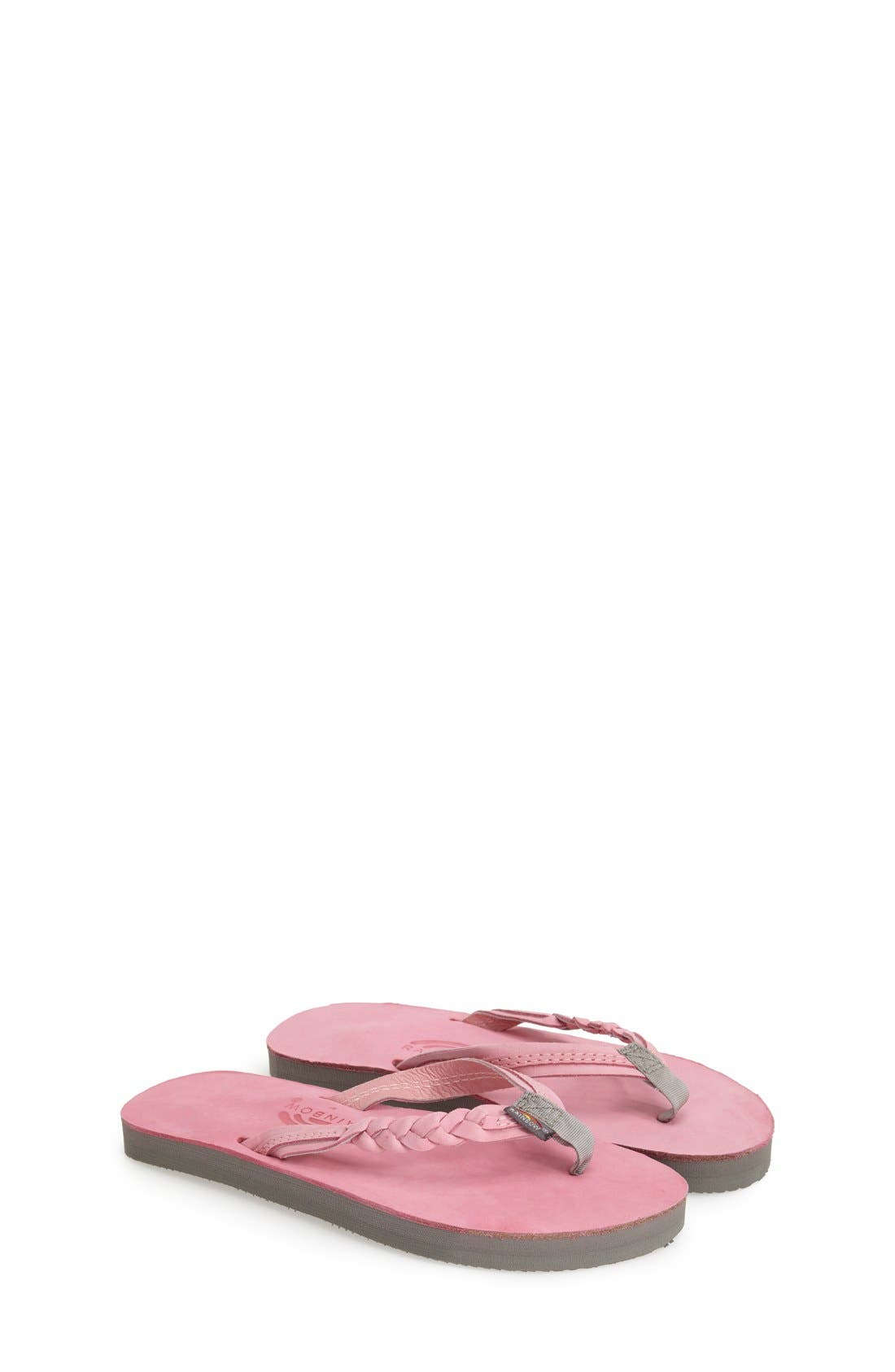 Rainbow 'Flirty Braidy' Sandal (Toddler, Little Kid & Big Kid)