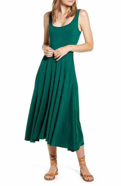 5c2ffddee tea length dress | Nordstrom