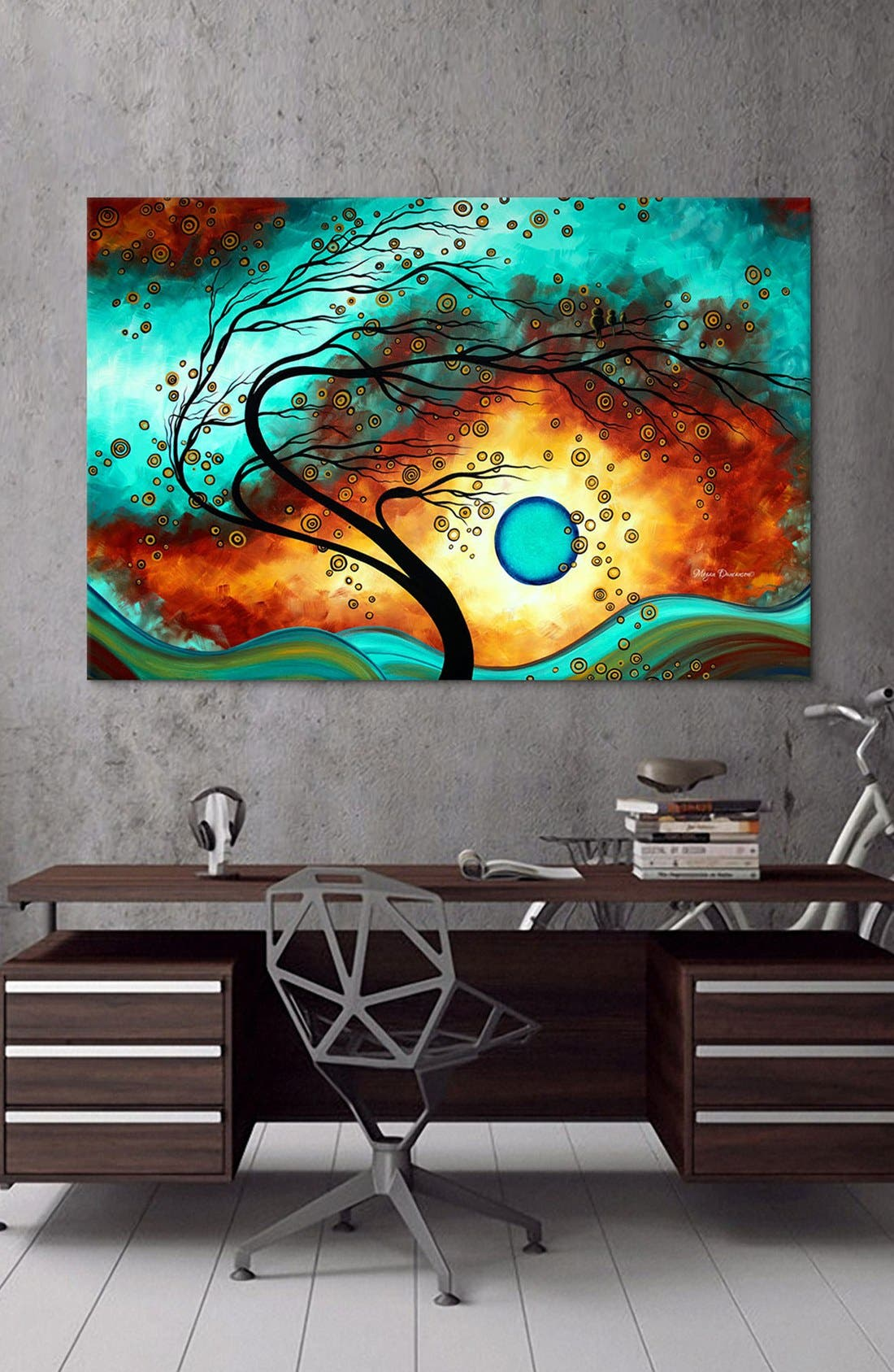 'Family Joy - Megan Duncanson' Giclée Print Canvas Art,                             Alternate thumbnail 2, color,                             Blue/ Green