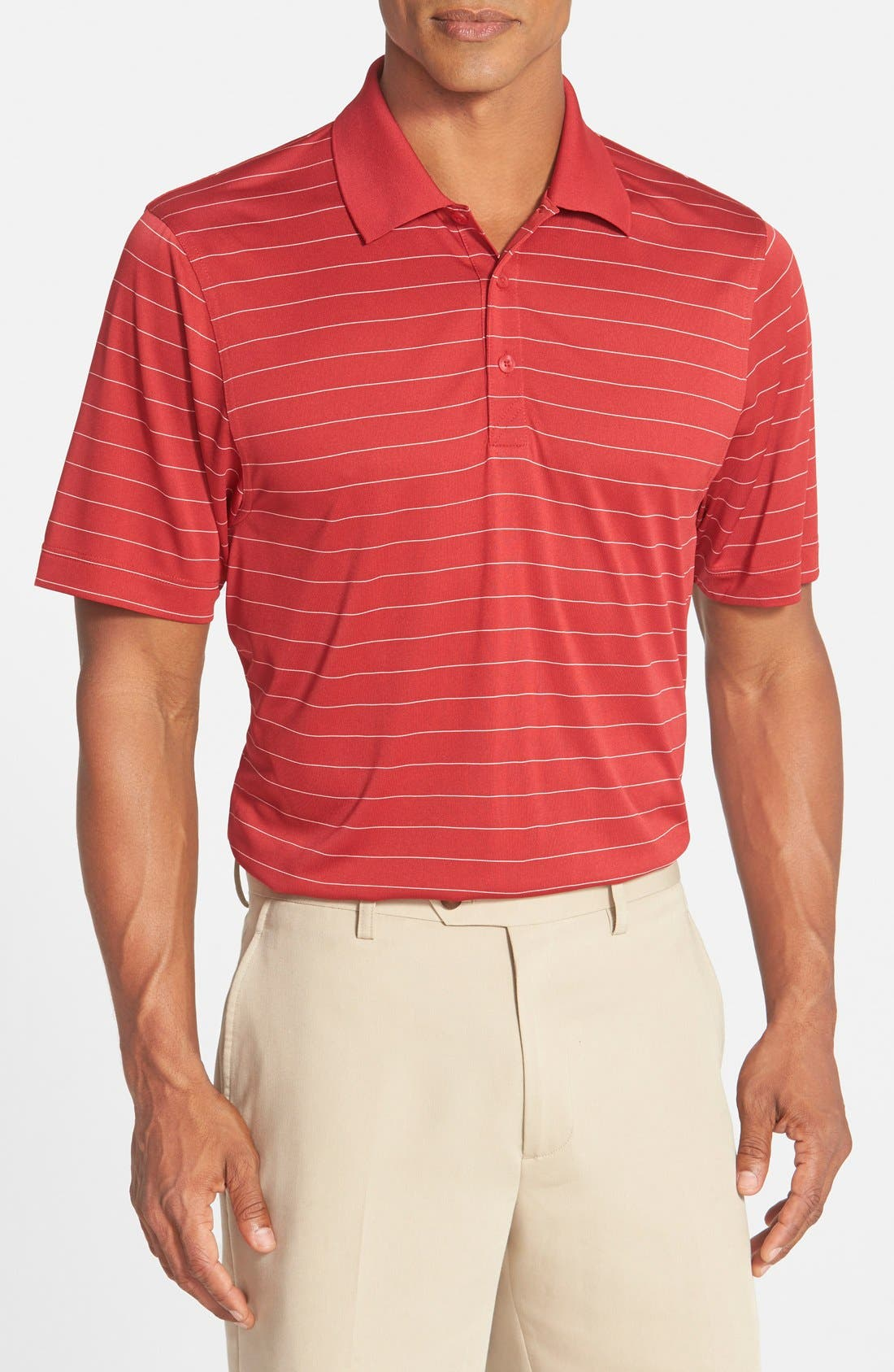 Franklin DryTec Polo,                         Main,                         color, Cardinal Red/ White