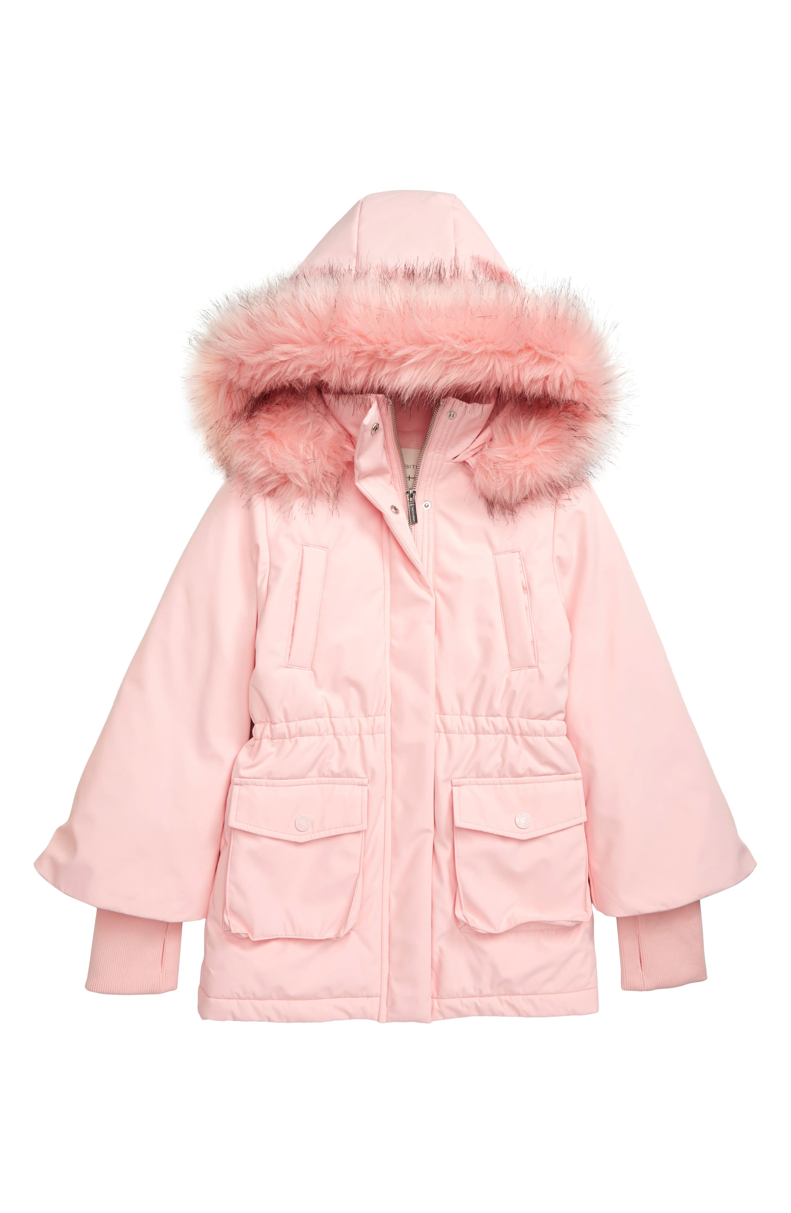 Big Kids HABITUAL girl Girls Devyn Long Faux Fur Coat