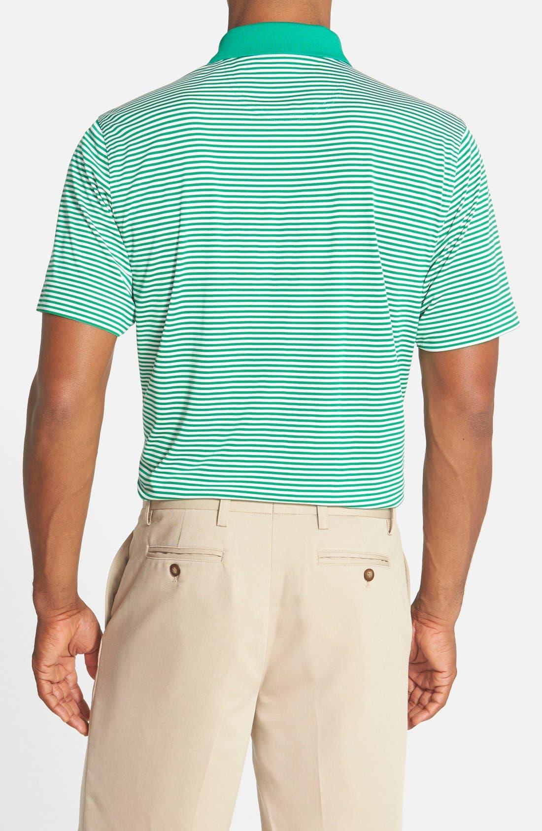 Trevor DryTec Moisture Wicking Golf Polo,                             Alternate thumbnail 2, color,                             Loft Green/ White