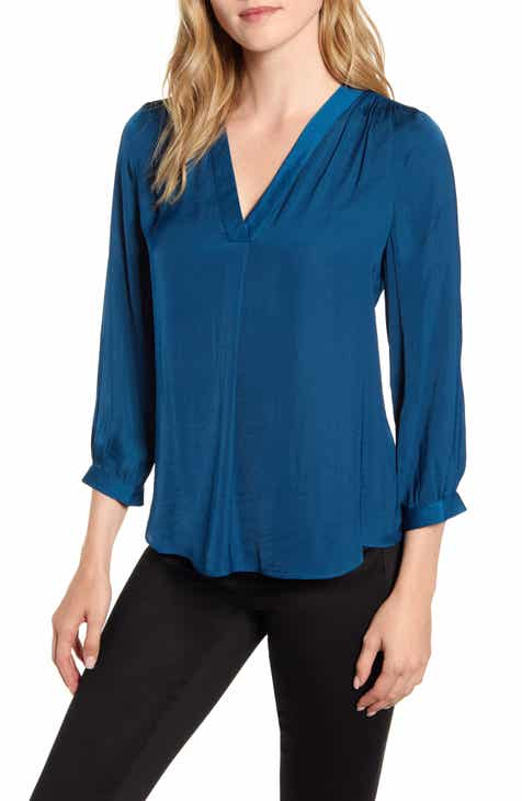 Vince Camuto Rumple Fabric Blouse Discount Code