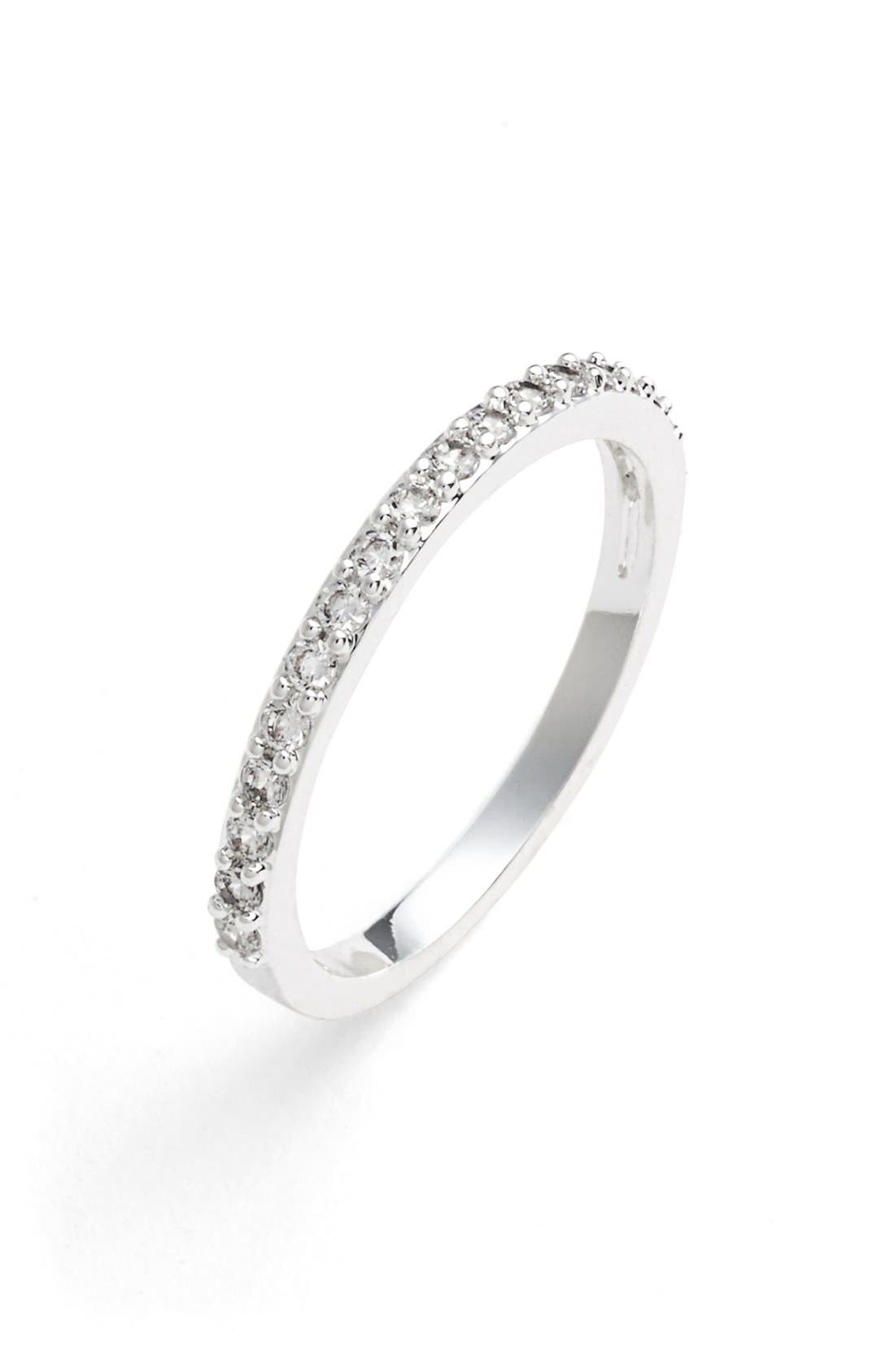 'Rings & Things' Band Ring,                         Main,                         color, Silver/ Marcasite/ Crystal