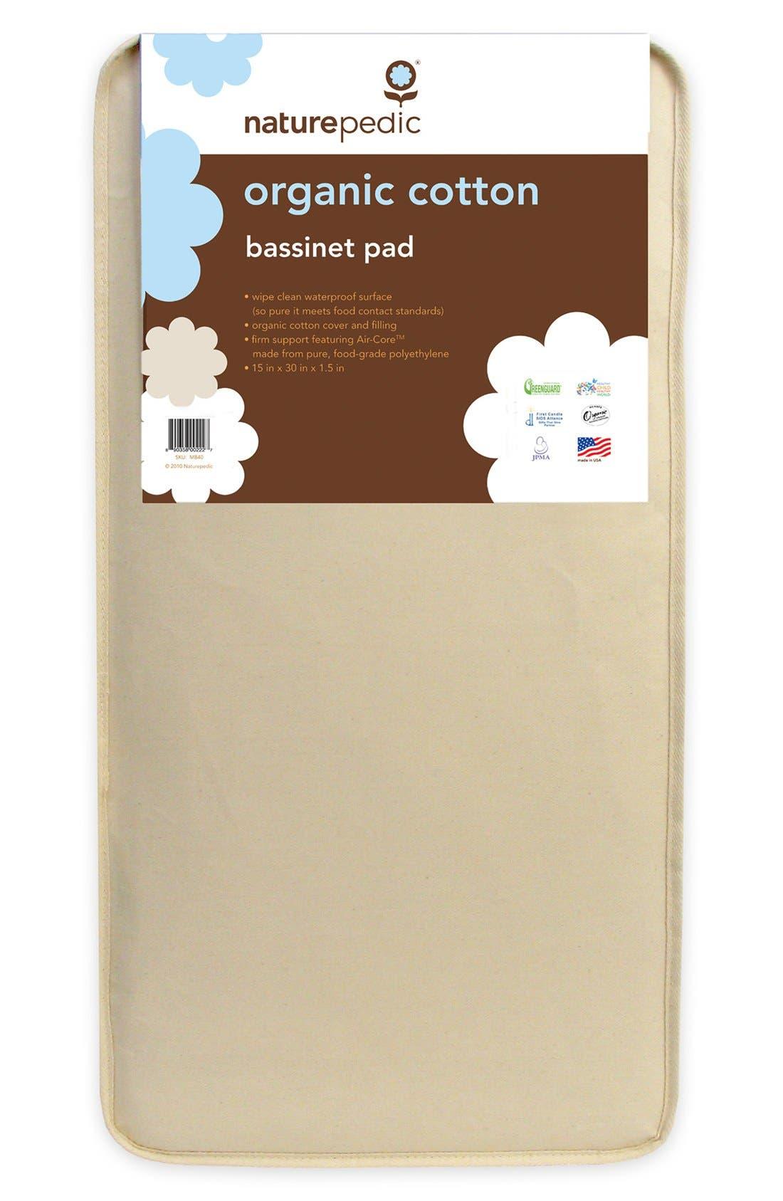 Organic Cotton Bassinet Pad,                             Main thumbnail 1, color,                             Natural