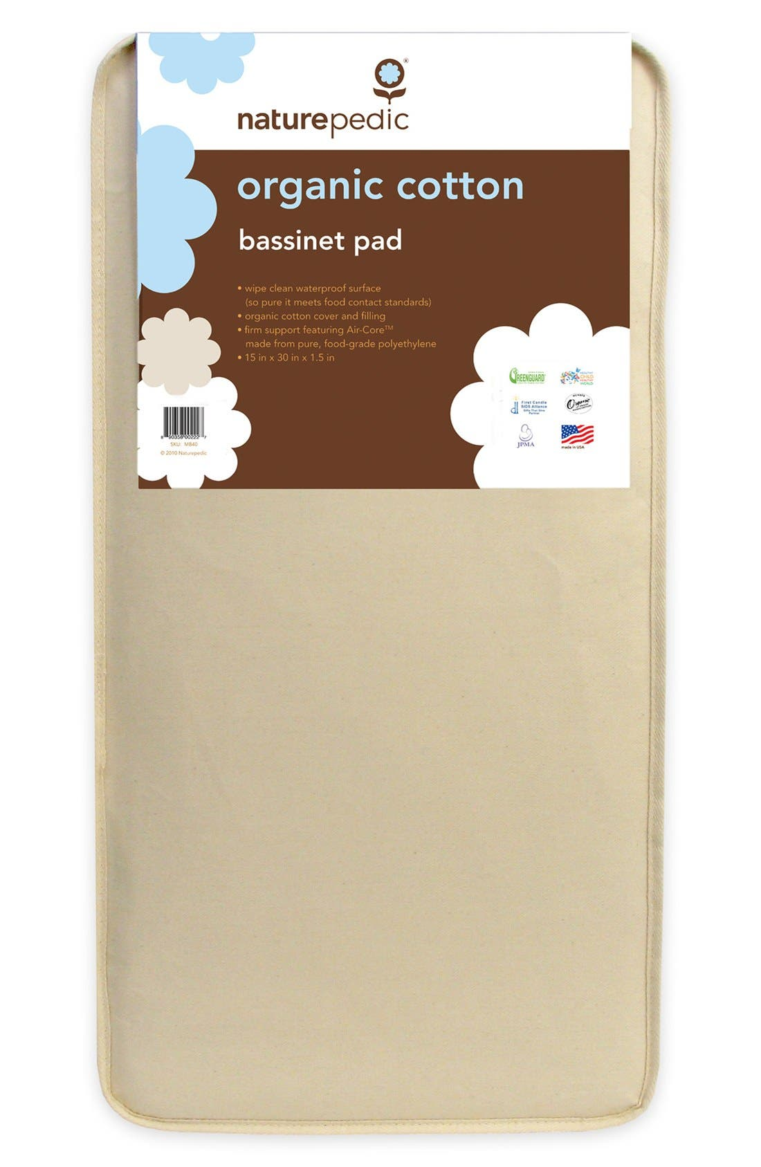 Naturepedic Organic Cotton Bassinet Pad