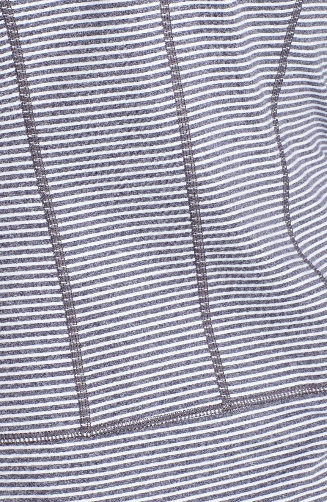 Alternate Image 3  - Zella 'Tahnee Bomber' Mèlange Stripe Hooded Jacket
