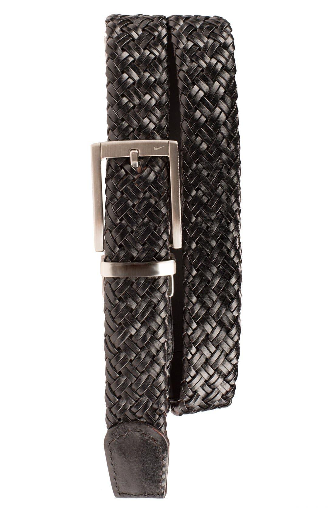 Reversible Leather Belt,                             Main thumbnail 1, color,                             Black/ Brown