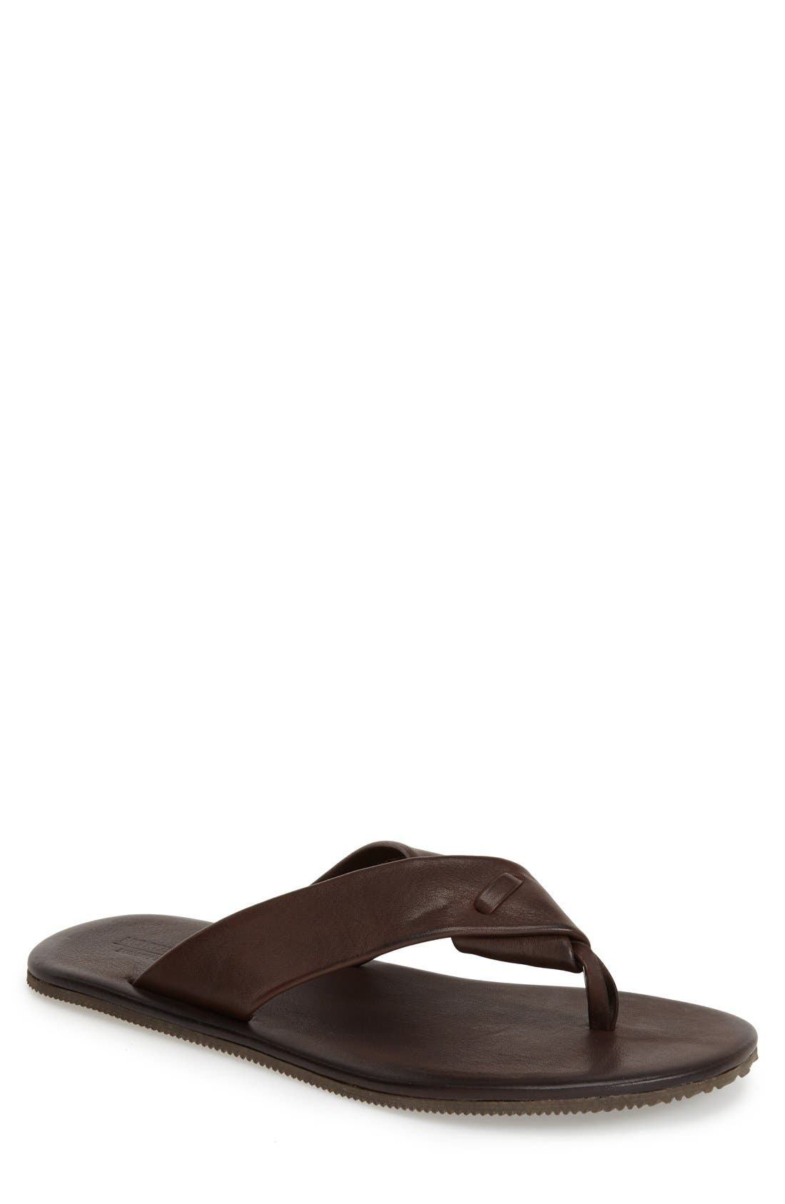 'Breeze' Flip Flop,                             Main thumbnail 1, color,                             Brown