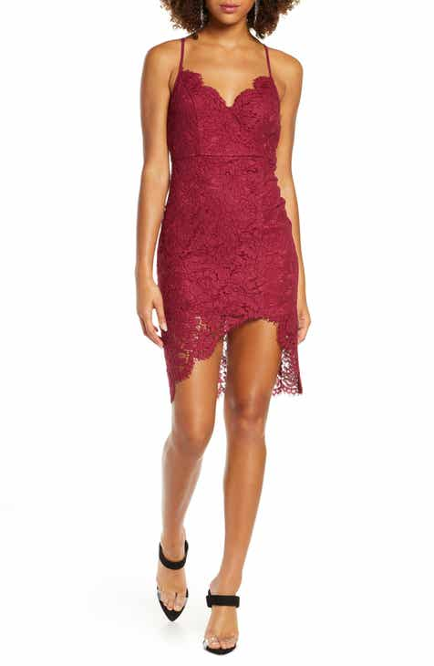 Lulus Flirting with Desire Floral Lace Dress