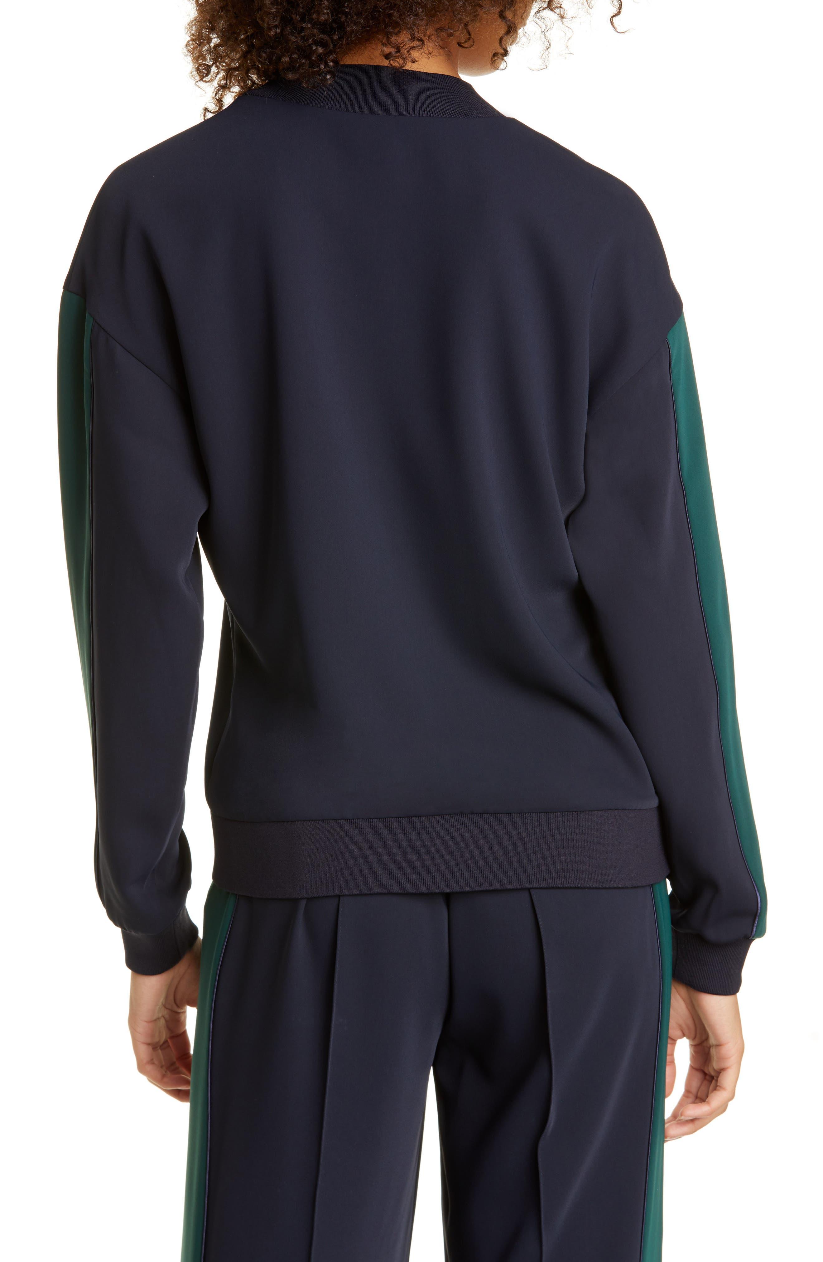 ADIDAS SATIN HOODIE NAVY & YELLOW striped pullover Depop