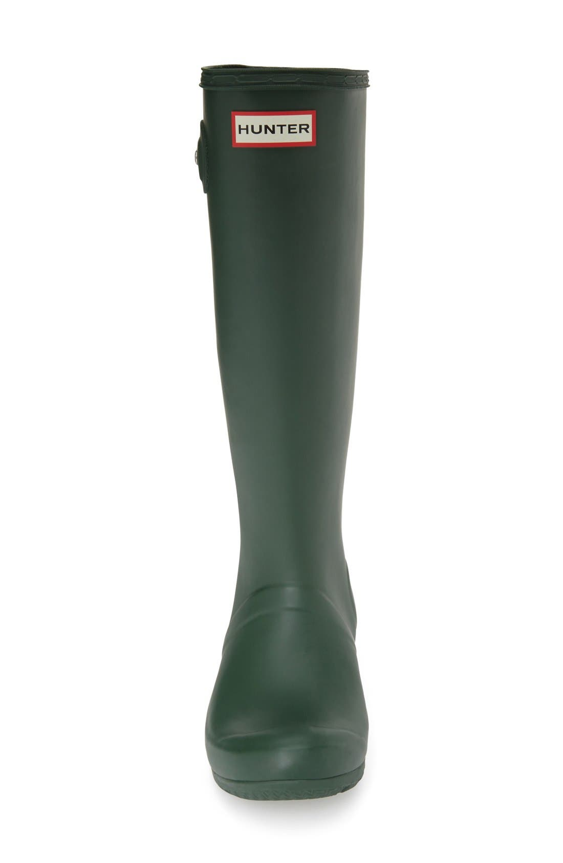 'Tour' Packable Rain Boot,                             Alternate thumbnail 3, color,                             Hunter Green