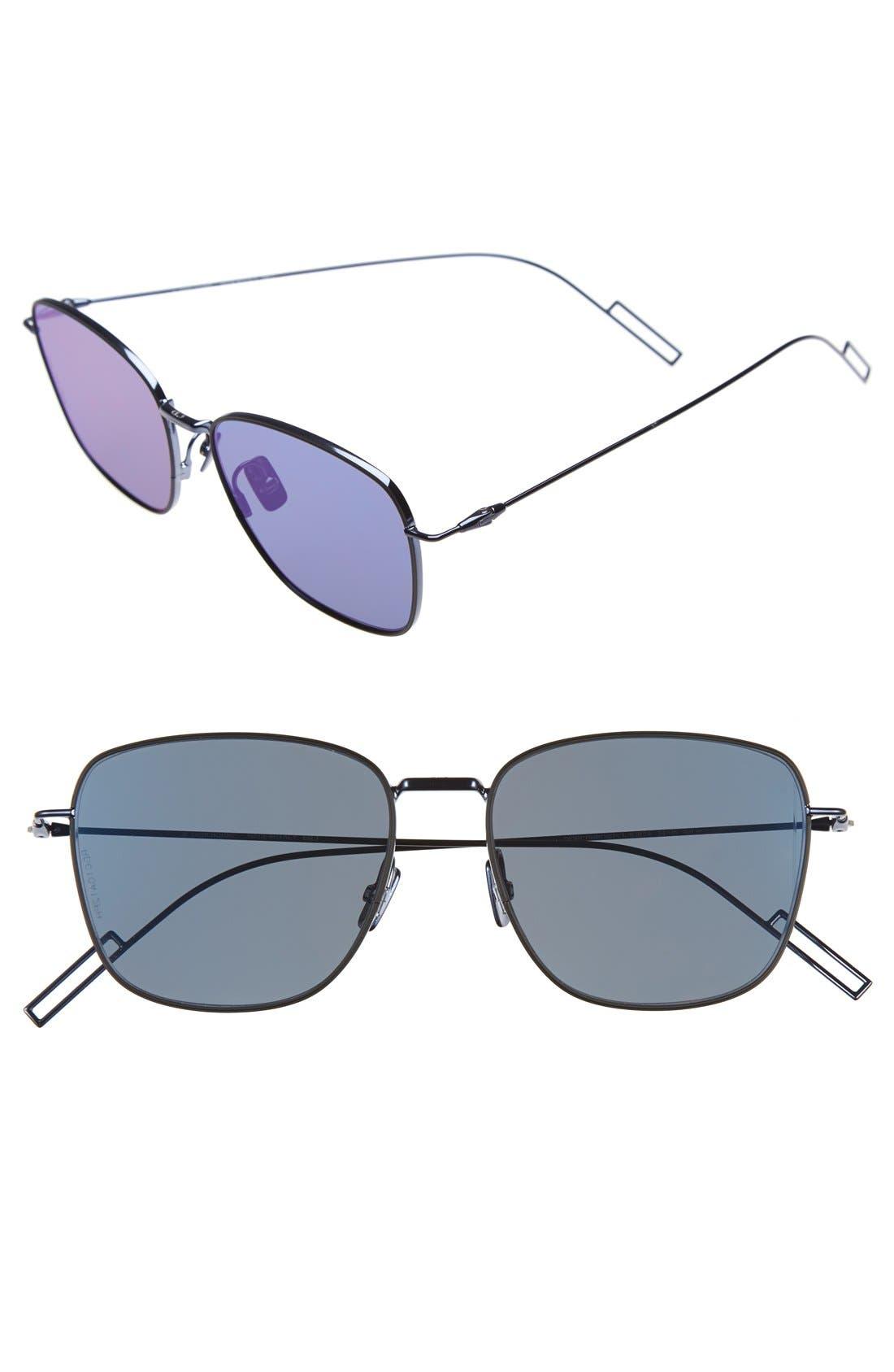'Composit 1.1S' 54mm Metal Sunglasses,                         Main,                         color, Blue Palladium/ Blue Mirror