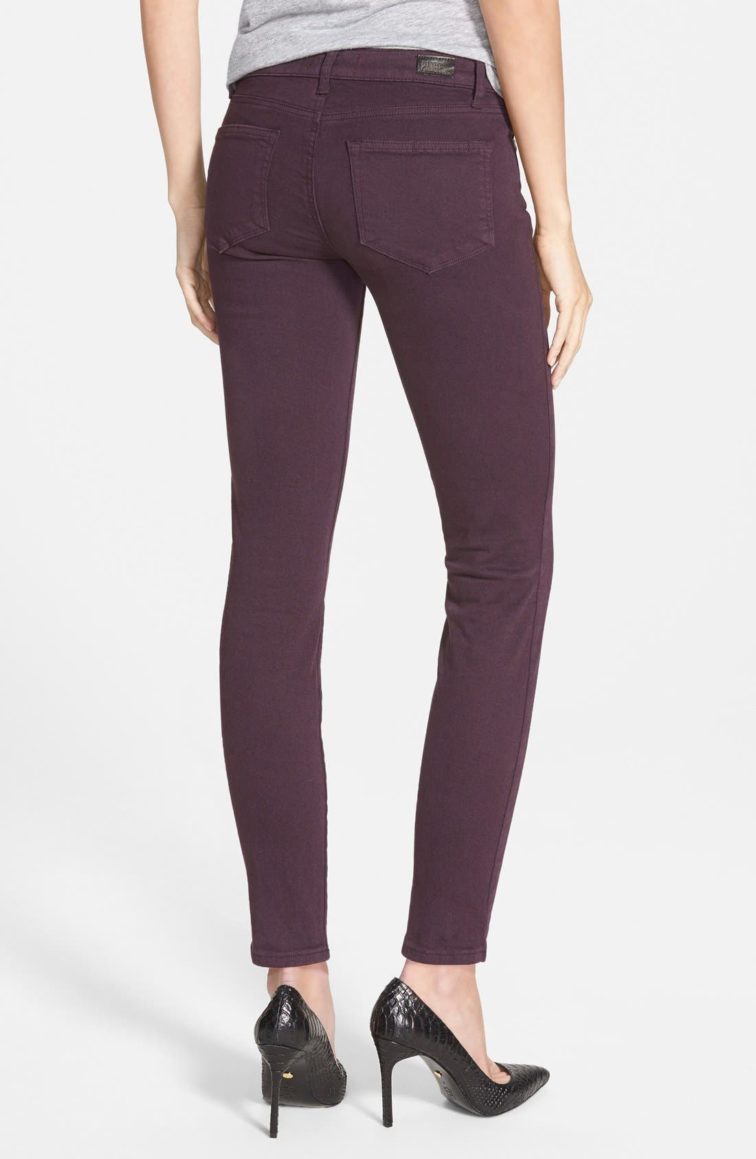 Alternate Image 6  - Paige Denim 'Verdugo' Ankle Skinny Jeans (Autumn Plum) (Nordstrom Exclusive)