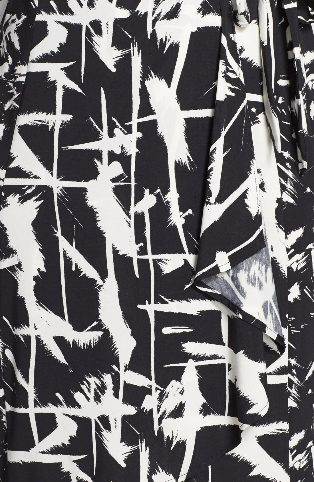Alternate Image 4  - BCBGMAXAZRIA 'Adele' Print Jersey Wrap Dress