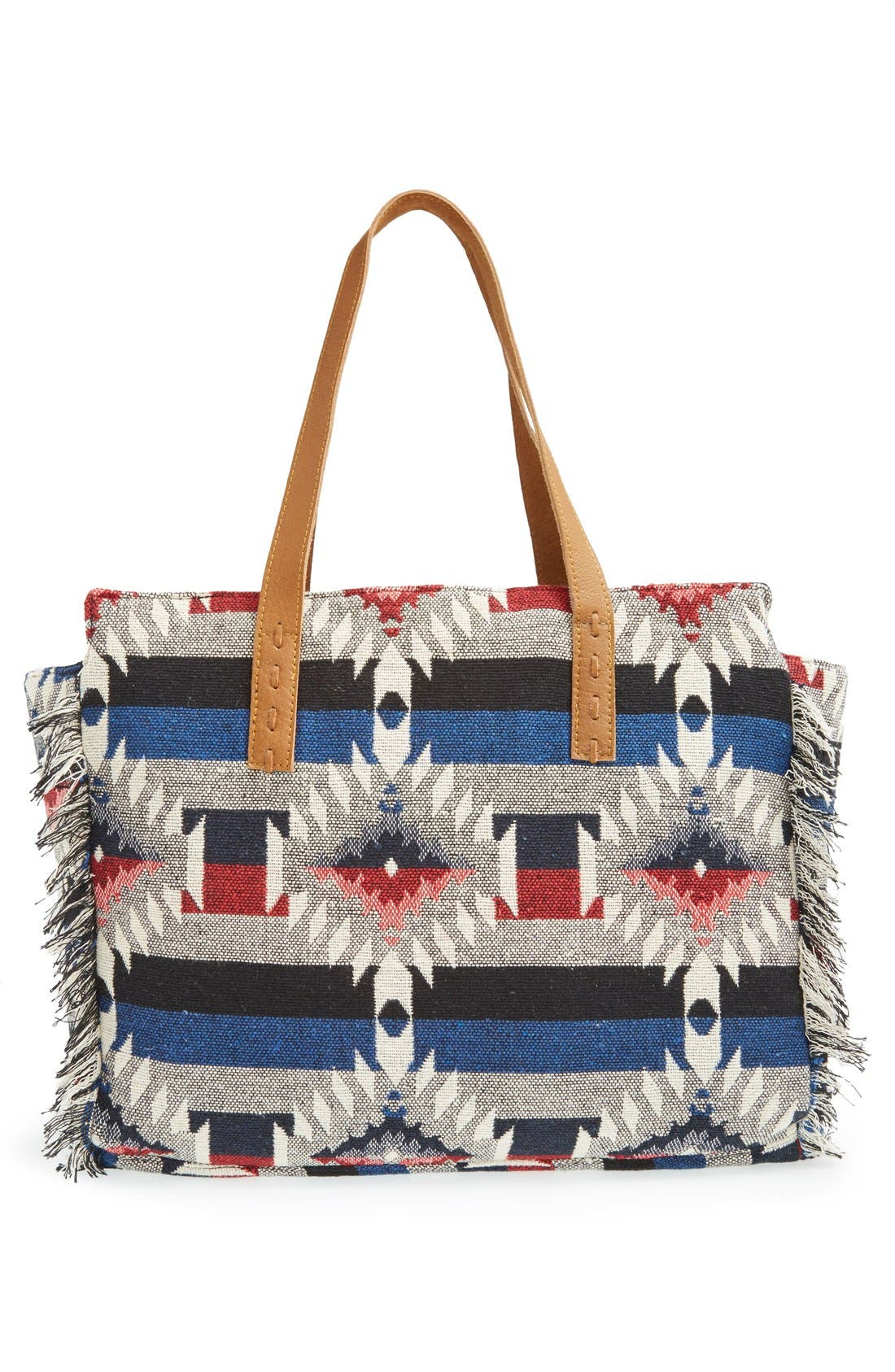Alternate Image 3  - Sole Society Woven Geometric Tote