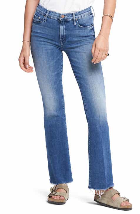 MOTHER Fray Hem Bootcut Jeans (Groovin)