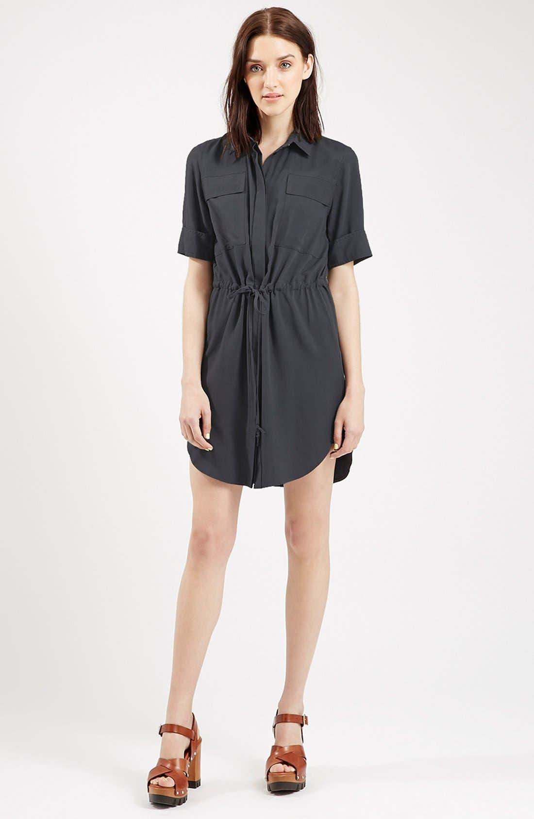 Alternate Image 1 Selected - Topshop Utility Drawstring Dress
