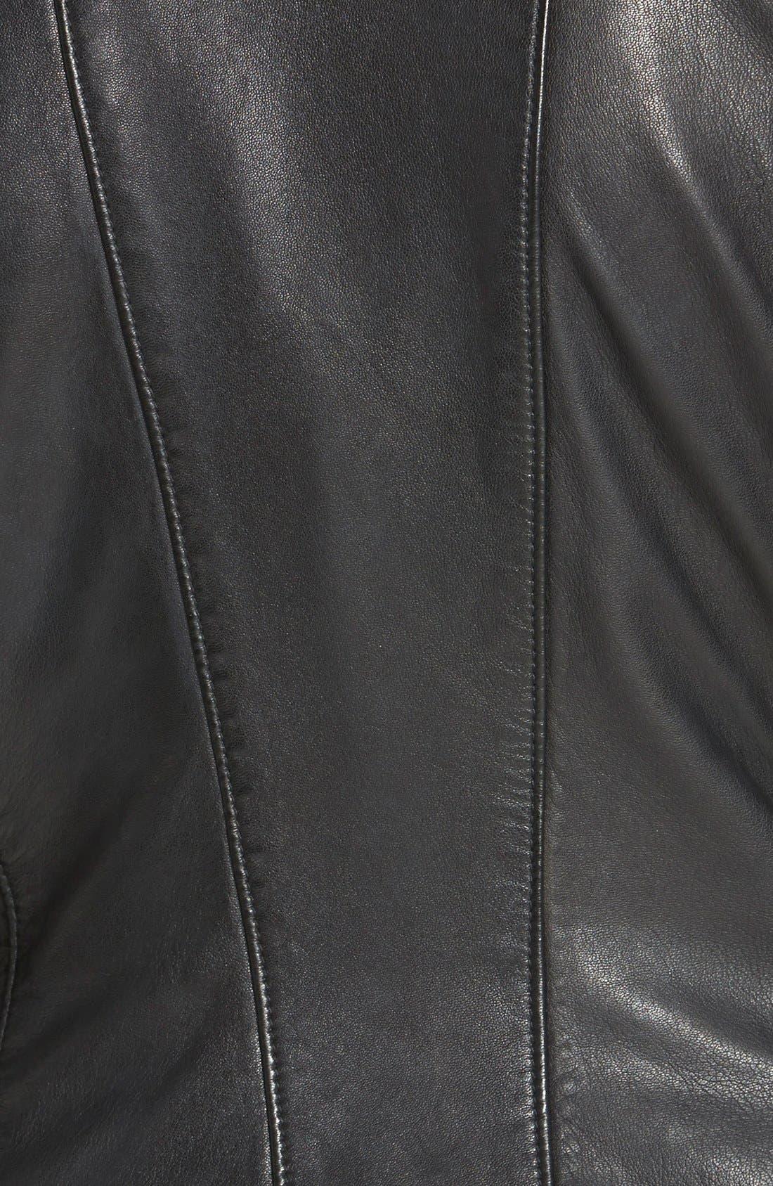 Alternate Image 3  - LAMARQUE Leighton Stitch Detail Lambskin Leather Jacket (Online Only)
