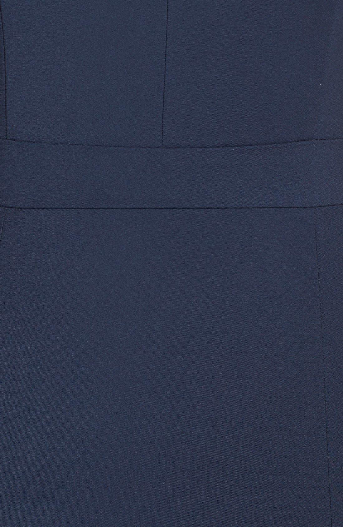 Alternate Image 3  - French Connection 'Lolo' Split Neck Sheath Dress