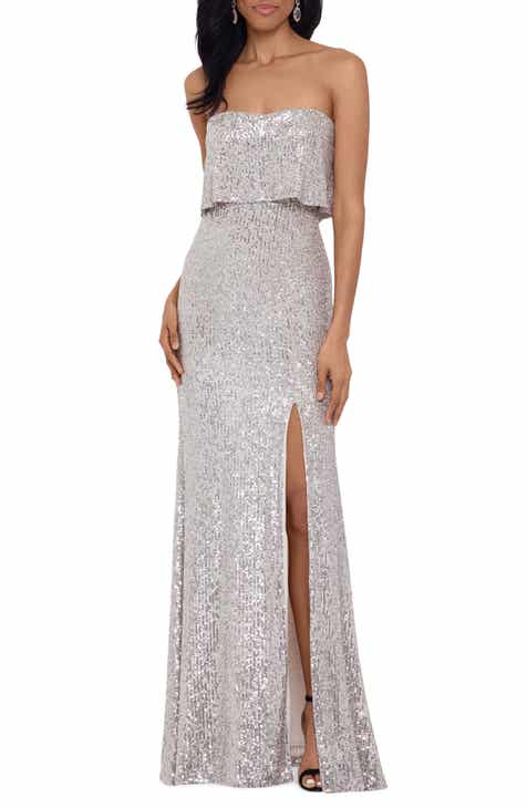 Xscape Strapless Sequin Gown
