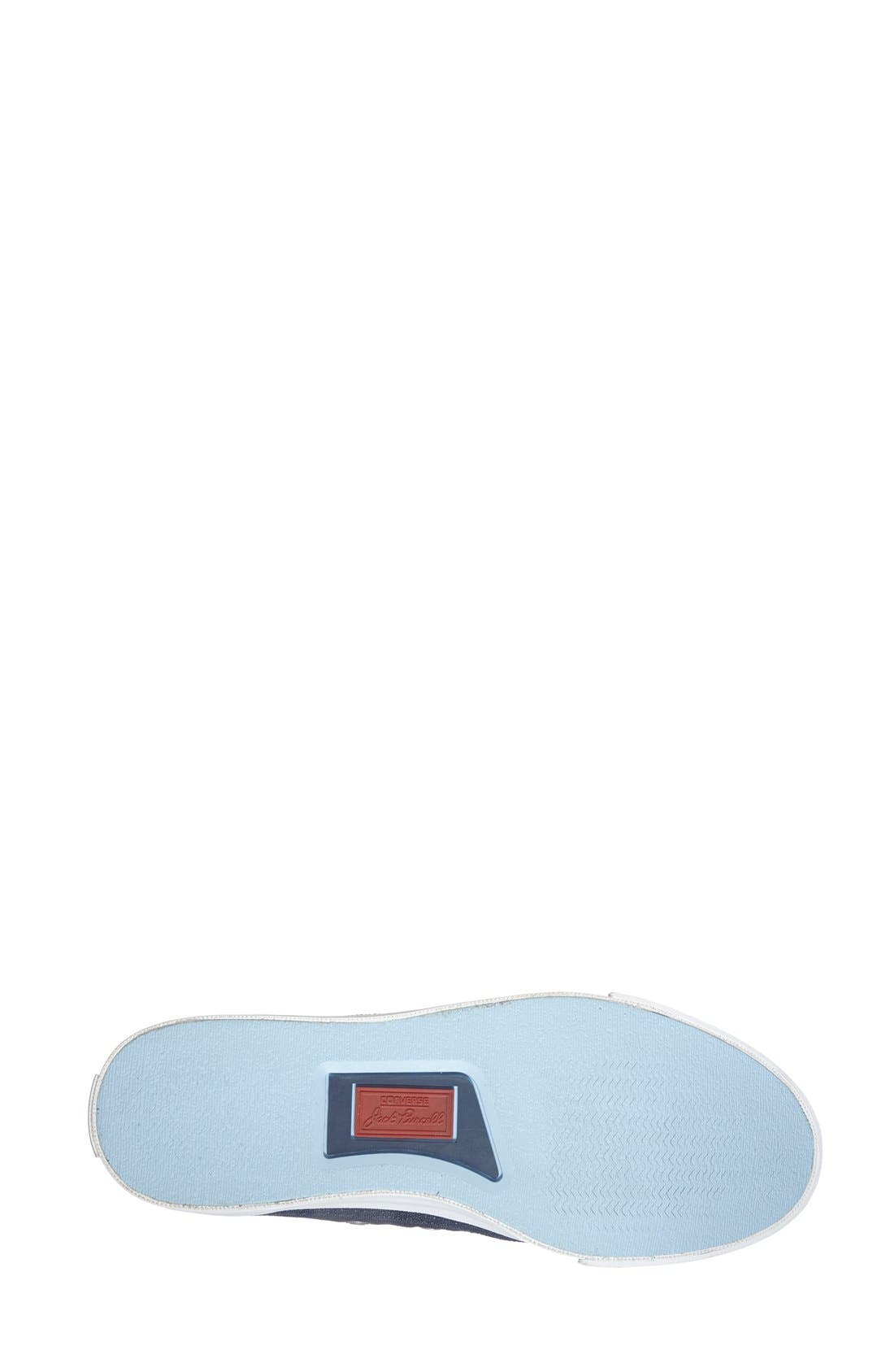 'Jack Purcell' Low Top Slip On Sneaker,                             Alternate thumbnail 4, color,                             Navy/ Blue/ White