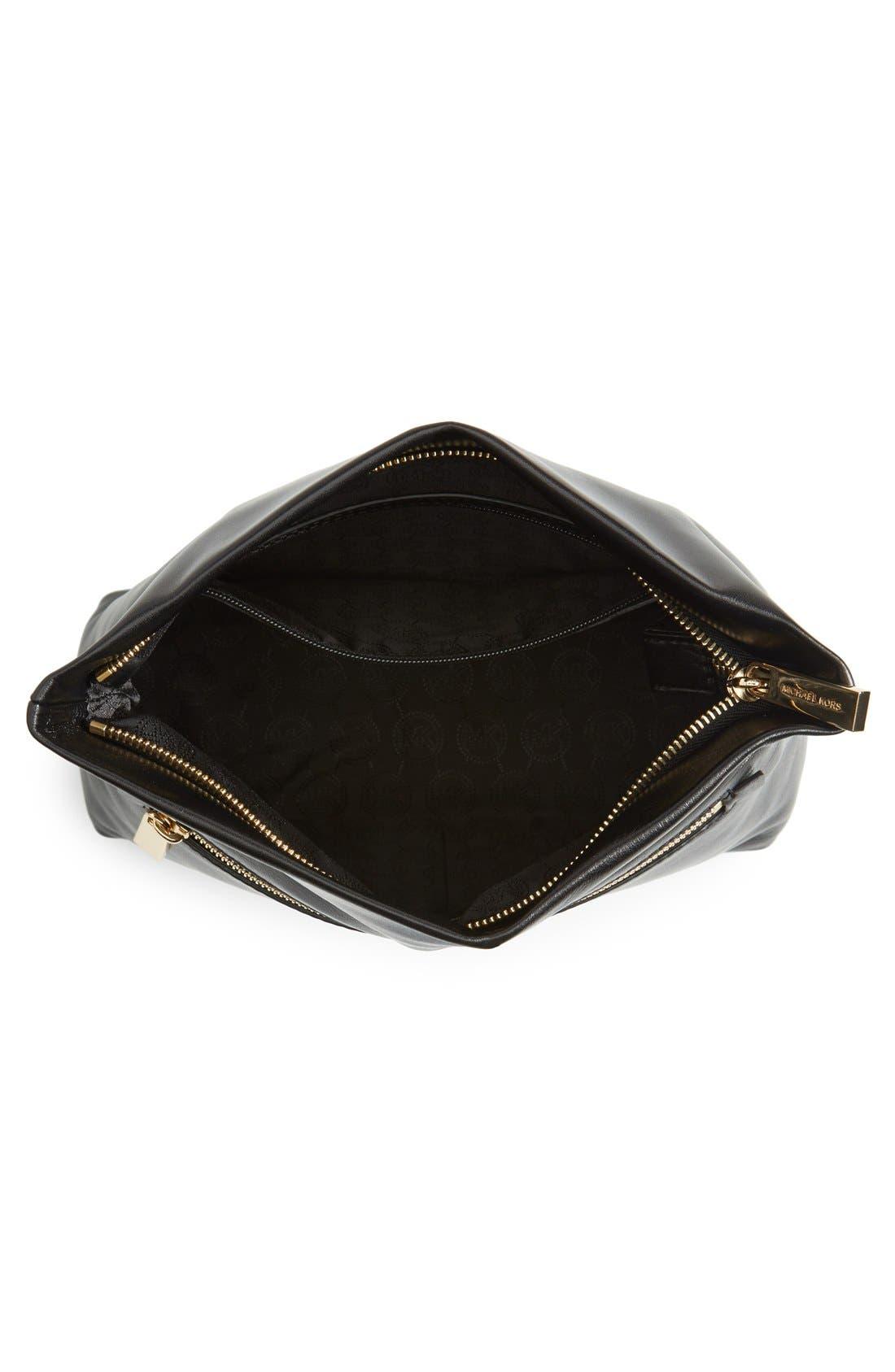 Alternate Image 3  - MICHAEL Michael Kors 'Daria' Leather Foldover Clutch