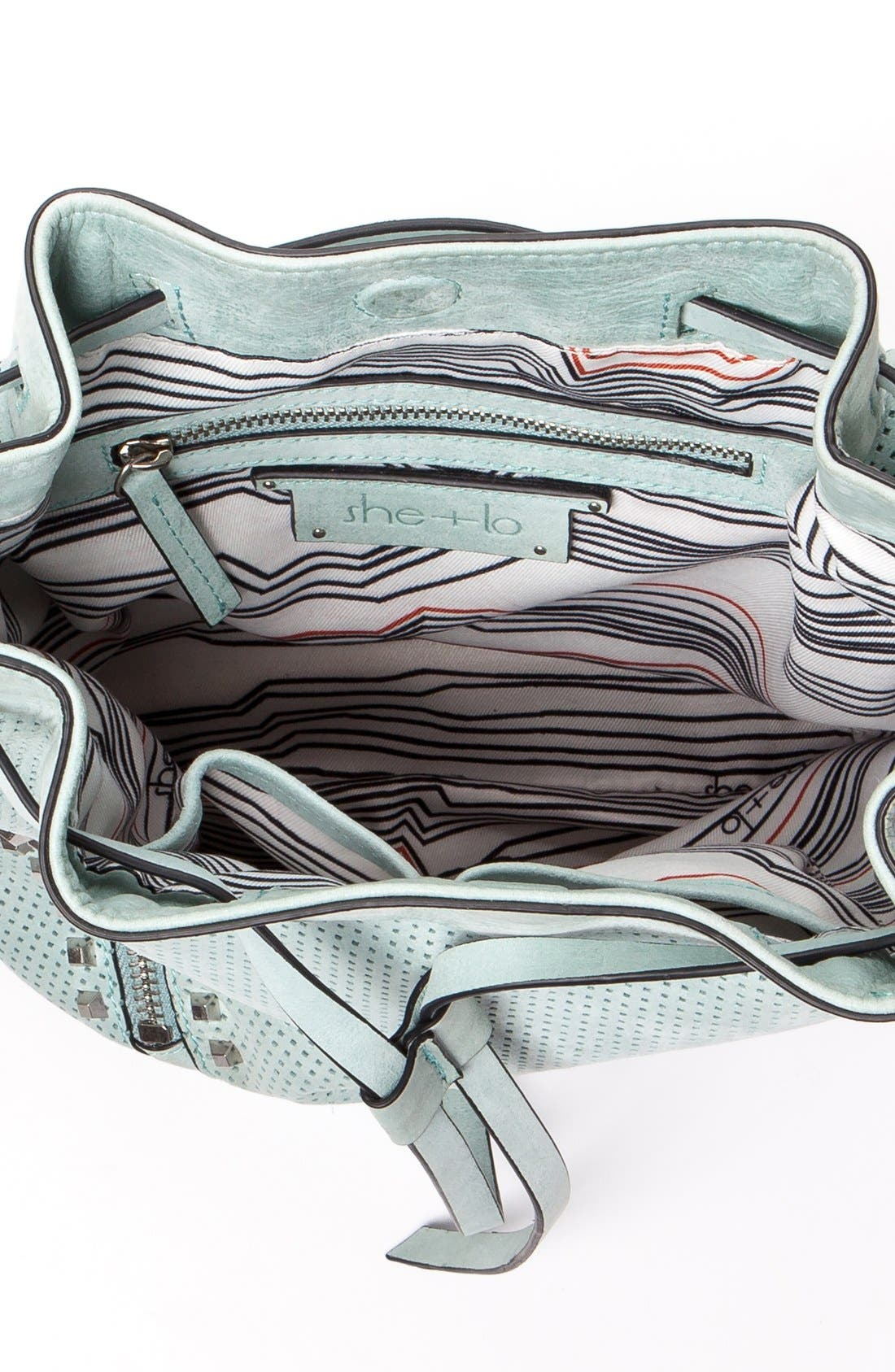 Alternate Image 4  - She + Lo 'Make Your Mark' Leather Bucket Bag