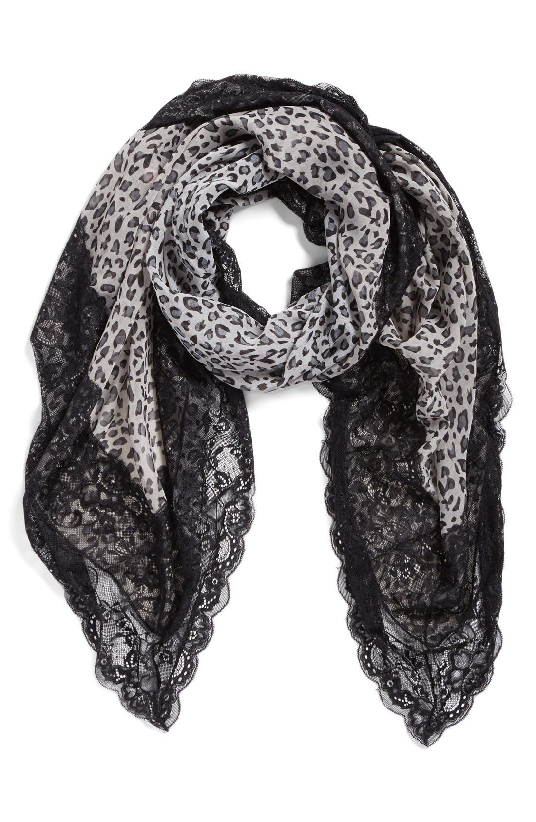Alternate Image 1 Selected - La Fiorentina Animal Print Scarf