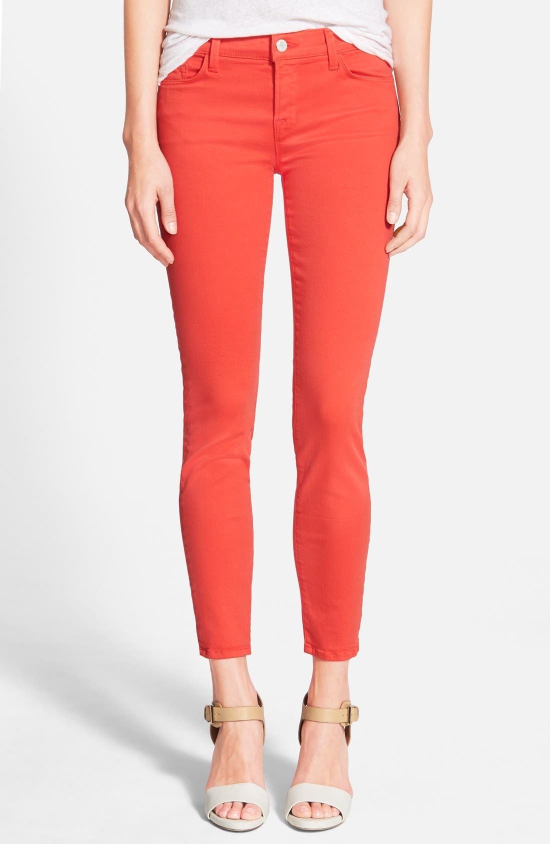 Main Image - J Brand Low Rise Ankle Skinny Jeans
