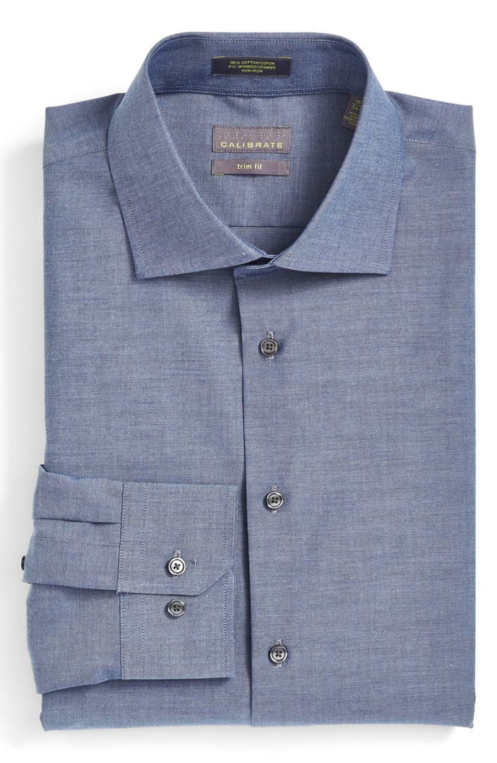 Calibrate trim fit non iron stretch dress shirt nordstrom for How to stretch a dress shirt