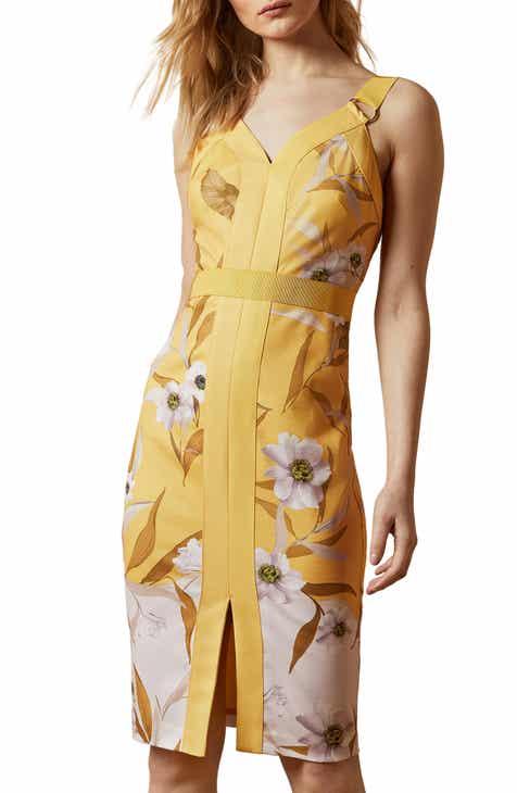 Ted Baker London Peppinn Cabana Body-Con Dress