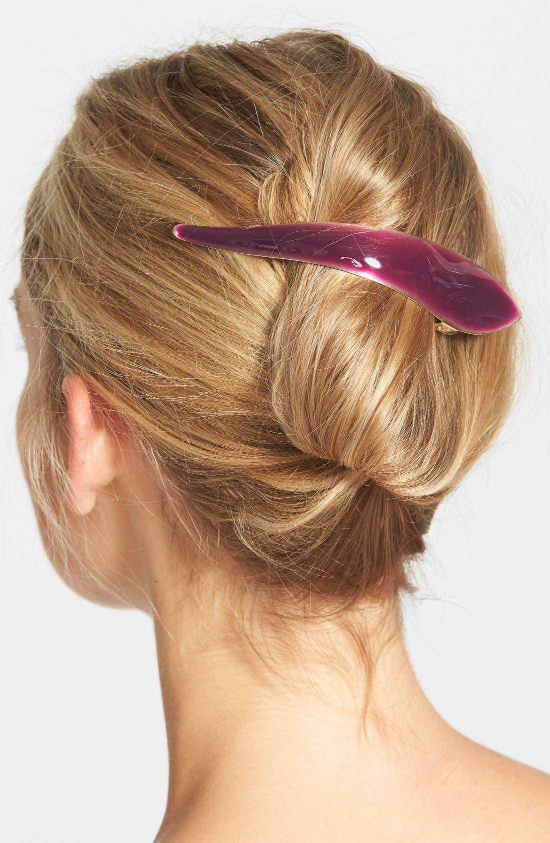 Maximas Silky Hair Clip,                             Main thumbnail 1, color,                             Wine