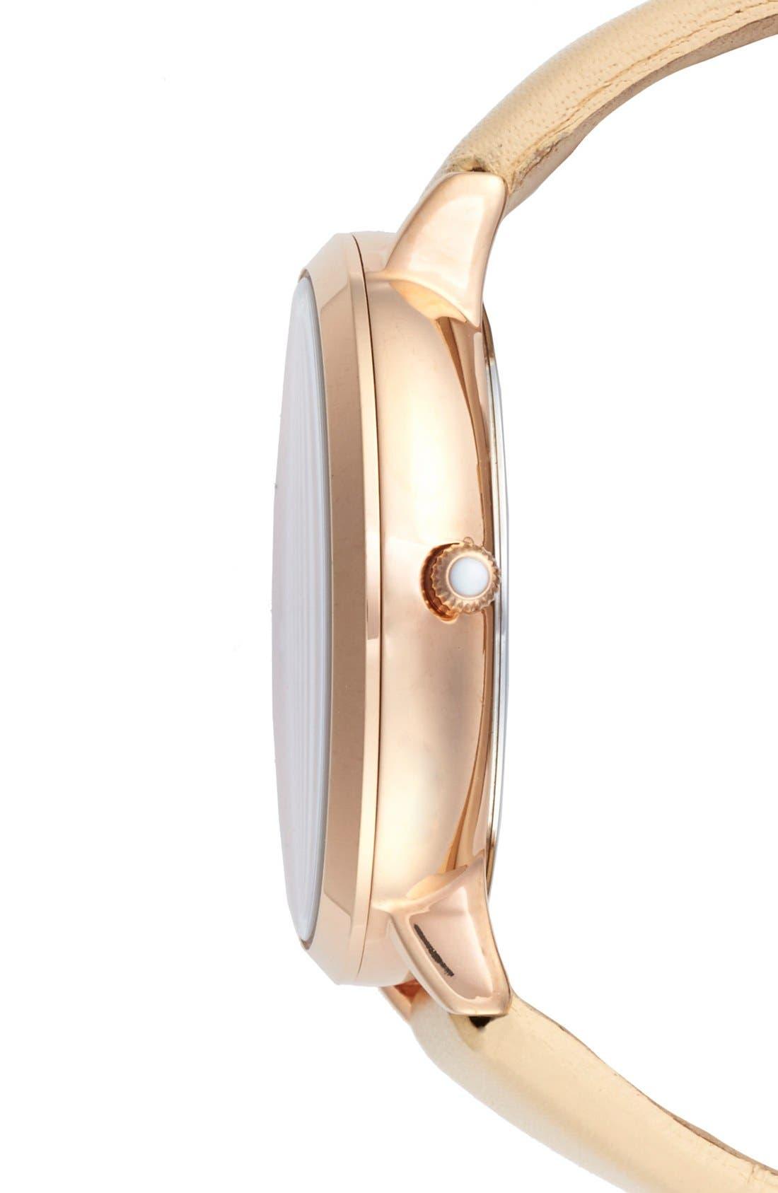 Alternate Image 3  - Ted Baker London 'Dress Sport' Multifunction Leather Strap Watch, 38mm
