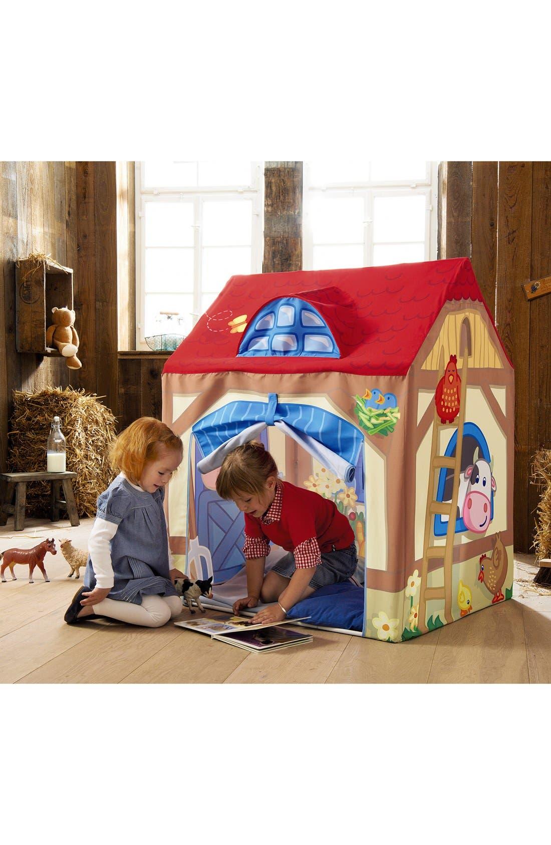 Farm Play Tent,                             Alternate thumbnail 4, color,                             Red