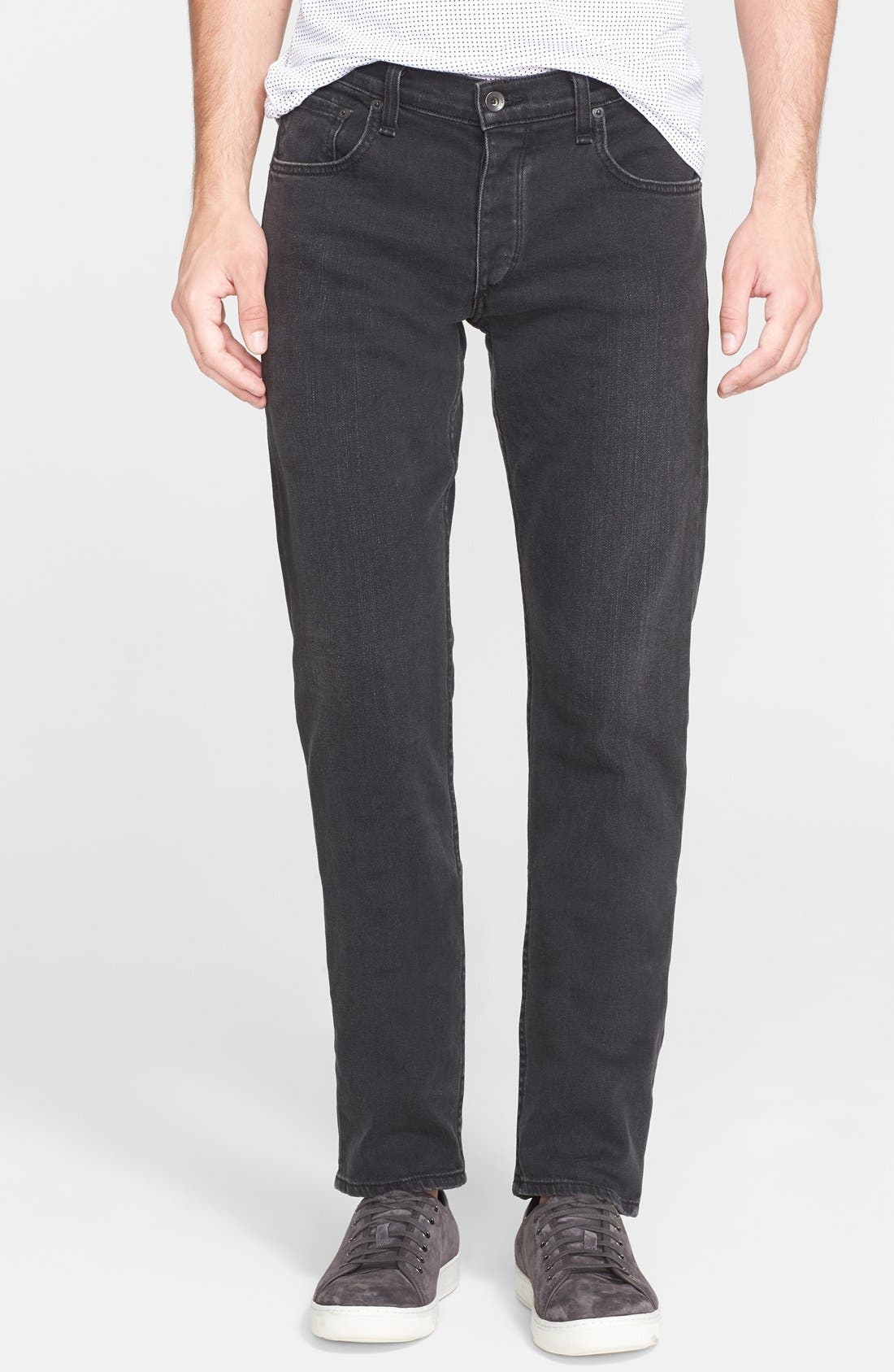 'Fit 2' Slim Fit Jeans,                             Main thumbnail 1, color,                             Rock Washed Black