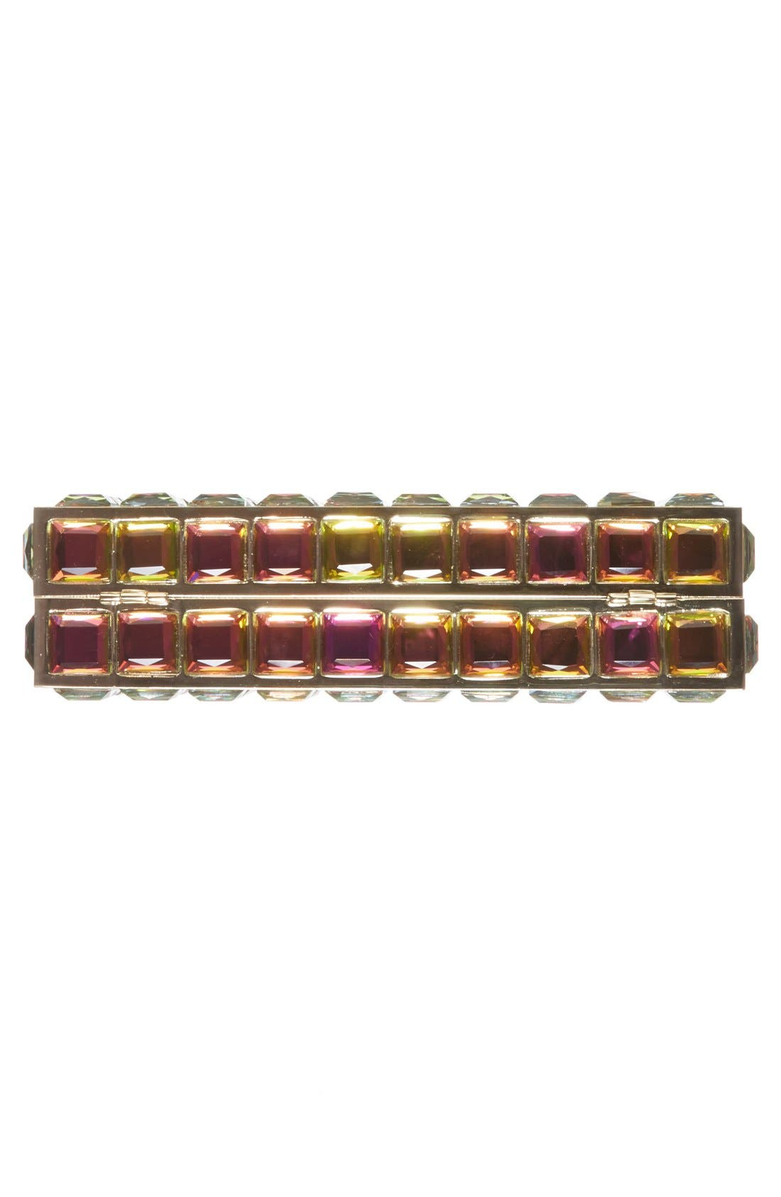 Natasha Couture Box Clutch,                             Alternate thumbnail 6, color,                             Iridescent