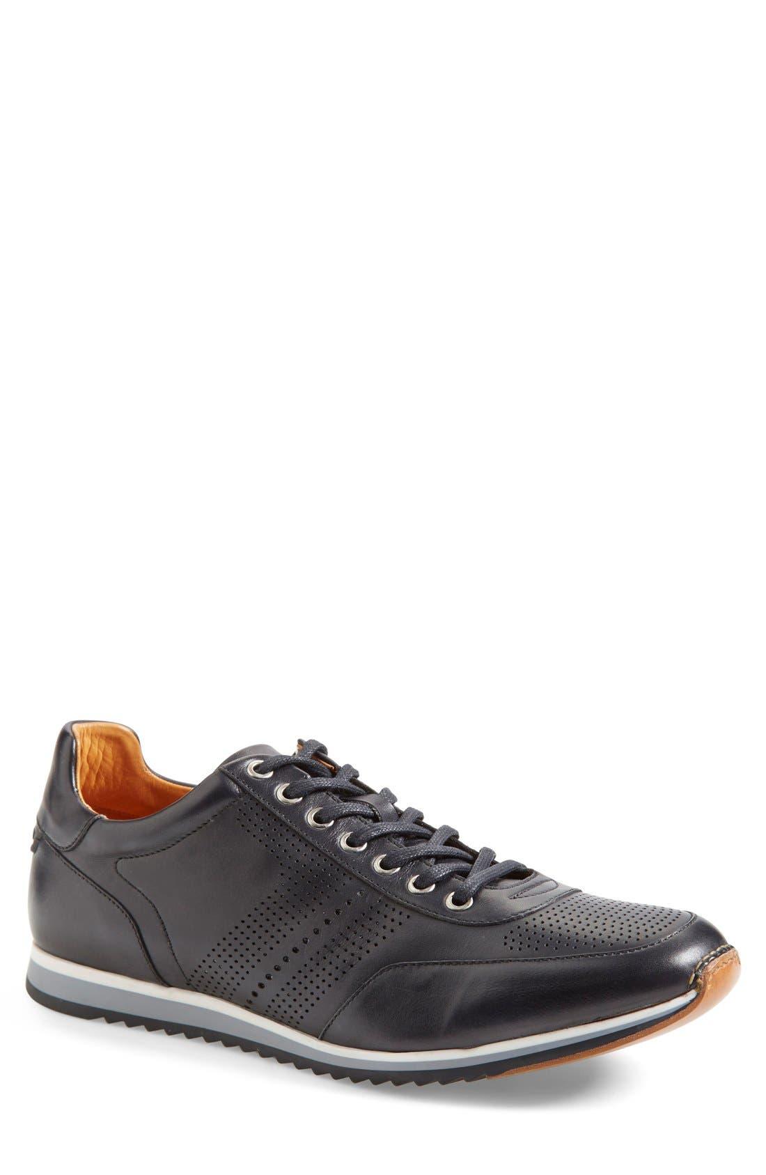 'Pueblo' Sneaker,                         Main,                         color, Black Leather