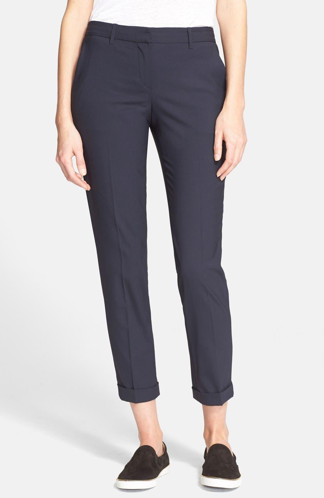 Testra 2B Stretch Wool Pants,                         Main,                         color, Deep Navy