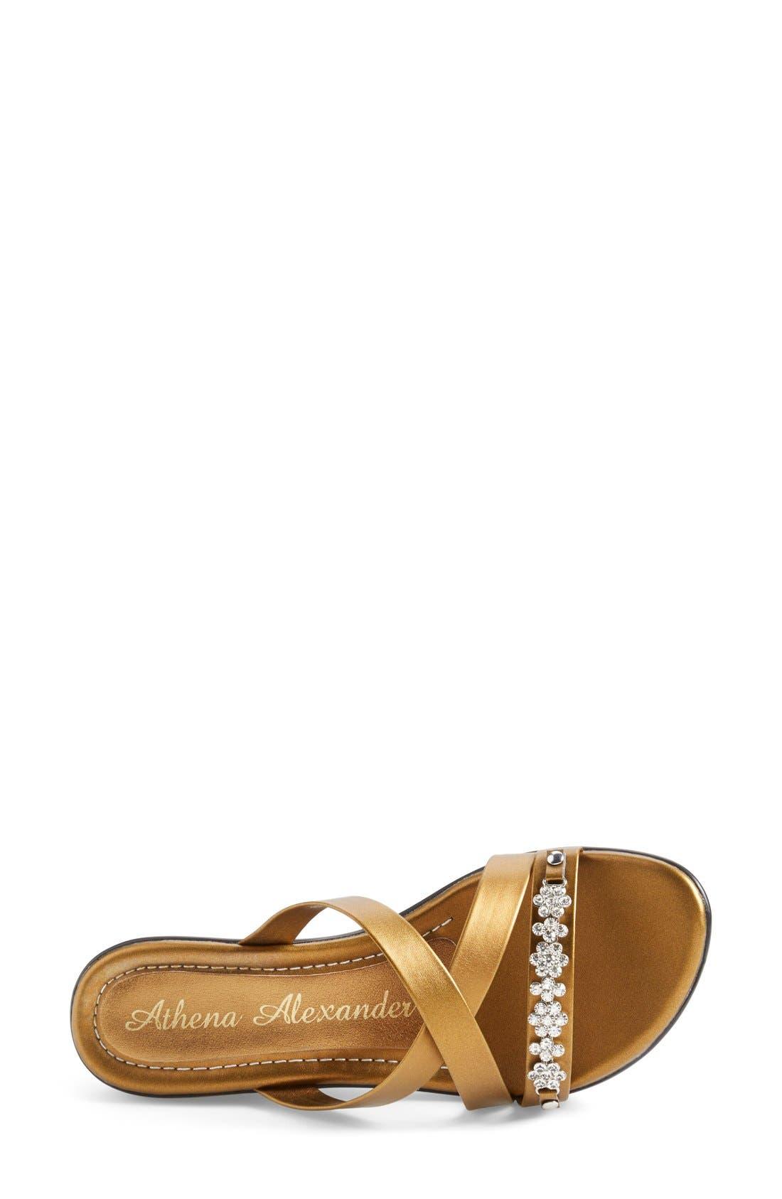 Alternate Image 3  - Athena Alexander 'Tangie' Crystal Embellished Wedge Sandal (Women)