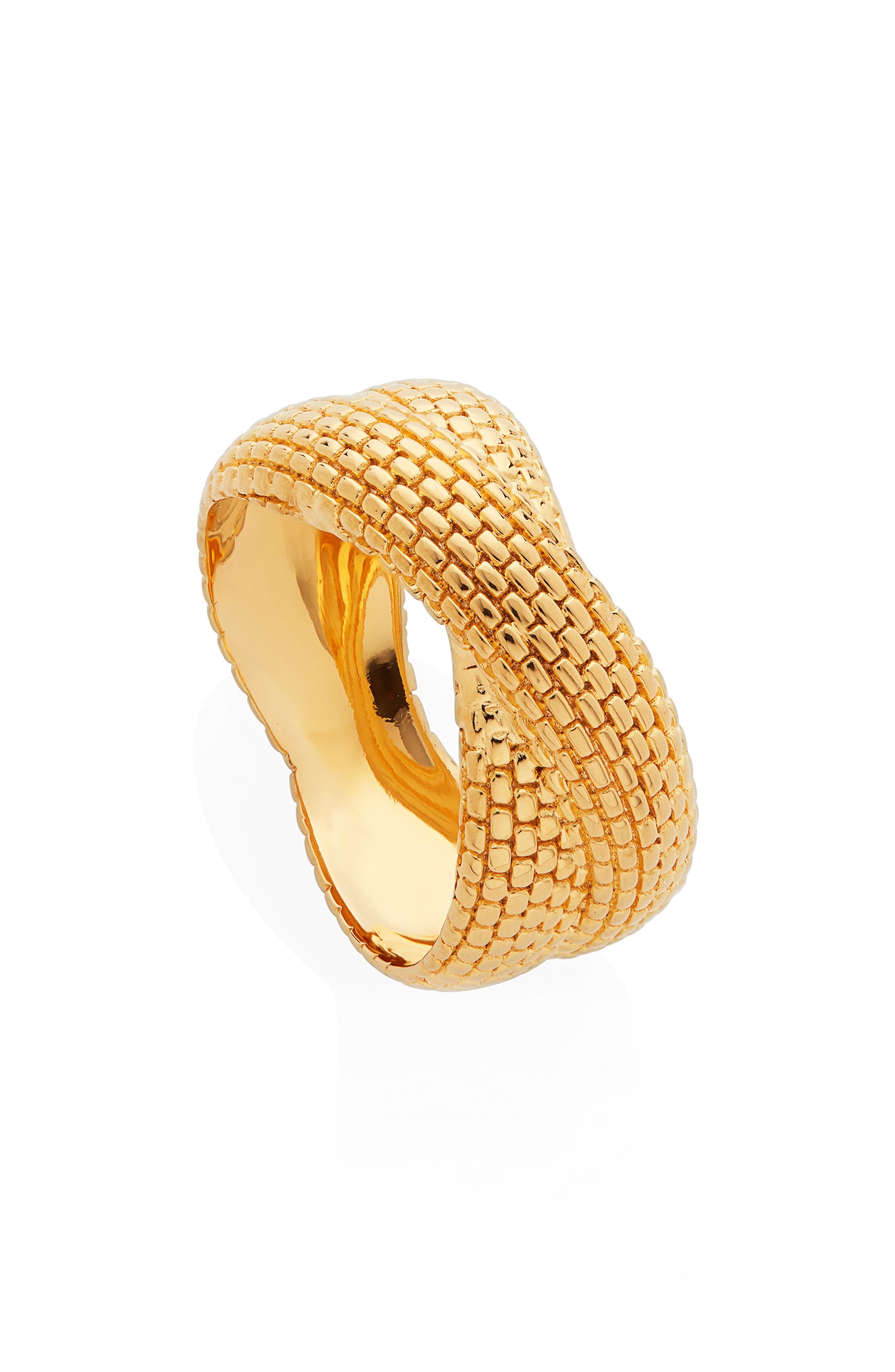 gold plated women ring